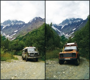 EXPEDITION ON A WAY IN CAUCASUS, GEORGIA.